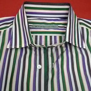 ETRO Striped Dress Shirt Size 16.5 EUC